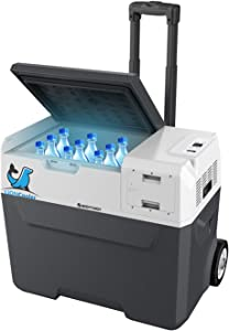 LiONCooler 1st Battery Powered Portable Solar Fridge Freezer,-4°F by LG Compressor, Replaceable Battery Charged by Solar/AC/Car (42 Quarts)