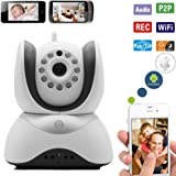 Palermo Wifi Video Baby Monitor With Pan/Tilt/Zoom Wireless IP Security Surveillance System And HD Night Vision