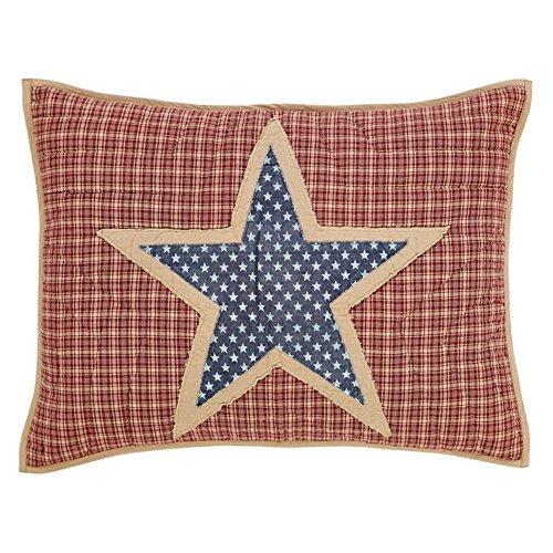 Teton Pines Bedroom - VHC Brands 24979 Independence Standard Sham 21x27