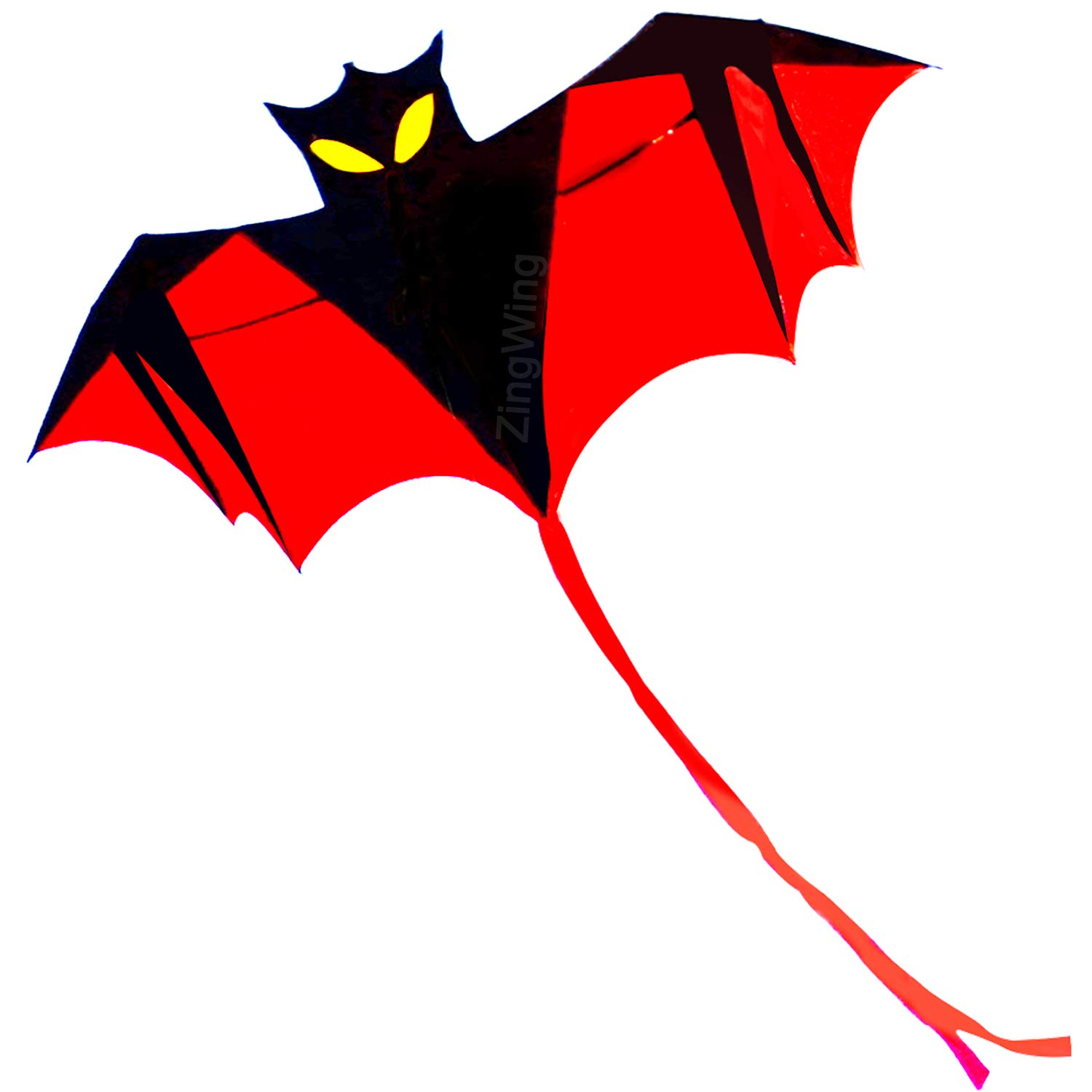 ziwing Kites for Kids Boys The Beach, 3D Bat Kite Easy to Fly Outside Best Outdoor Toys in Summer Park Family Fun - Easy to Assemble for Kids