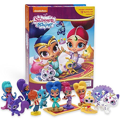 Licensed Story Book Set: Shimmer & Shine Figure Play Set and Book Set