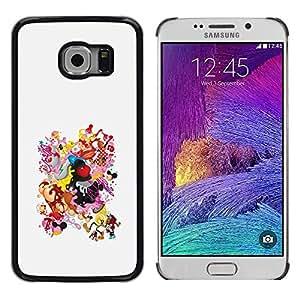 Paccase / Dura PC Caso Funda Carcasa de Protección para - Smiley Boobs Ass Woman Body Drawing - Samsung Galaxy S6 EDGE SM-G925