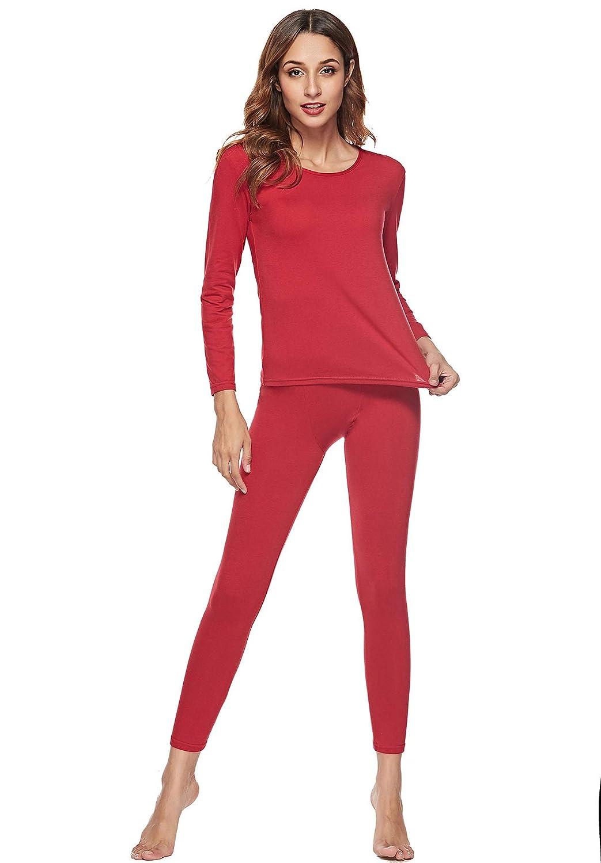 EFINNY Women s Long Thermal Underwear Sleepwear Long John Set Long Sleeve  Tops Pants Pajama Set SA0236 larger image 70edad2ee