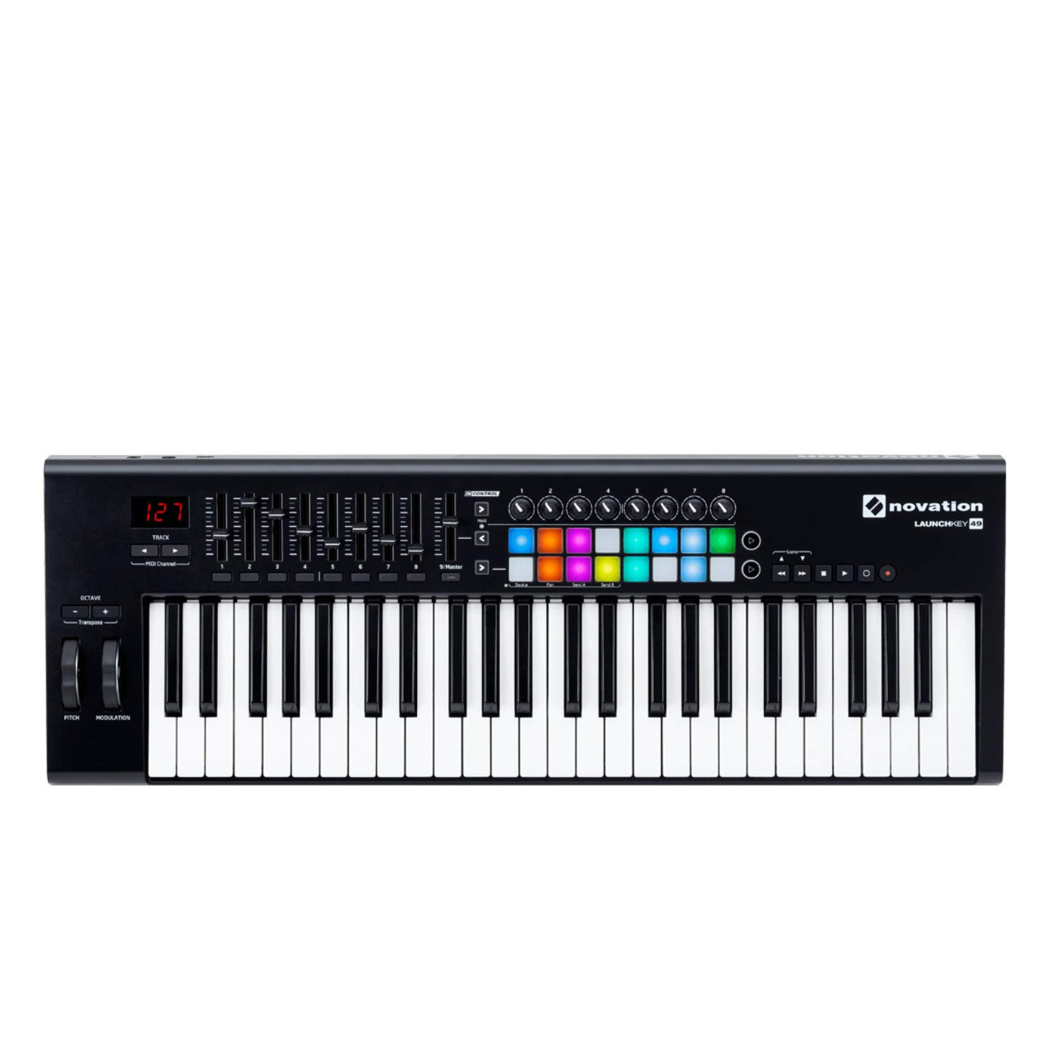 Novation Launchkey 49 MK2 Keyboard Controller with Knox Keyboard Stand and Sustain Pedal by Novation (Image #2)