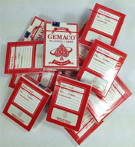 144 New American Indian Casino Decks of Cards RED by Gemaco