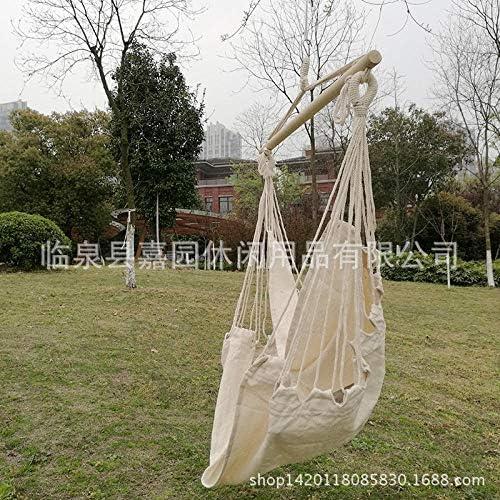 """""""N/A"""" Balançoire extérieure Chaise berçante Polyester Coton Chaise Suspendue Toile Chaise Suspendue Tissu en Coton avec bâton en Bois Suspendu Chai"""