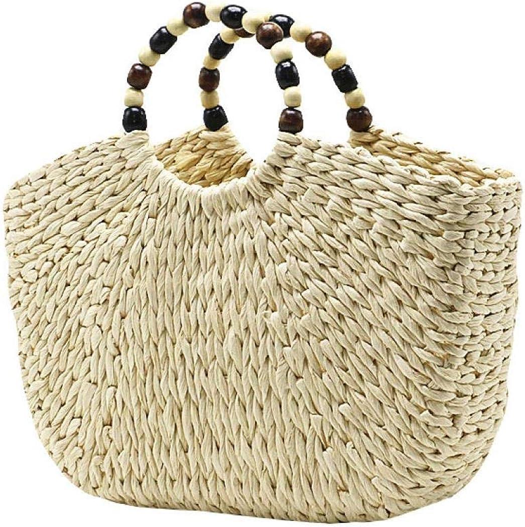 Straw Tote Bag Women Hand Woven Chic Rattan Handbags Hobo Beach Bag