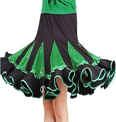 Tango Latin Ruffled Rumba Salsa Practice Skirts Rhythm Cha Cha Samba Ballroom