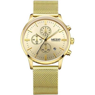 Relojes Hombre Relojes de Pulsera Marea Cronometro Impermeable Fecha Calendario Analogicos Cuarzo Relojes de Hombre
