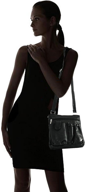 Purse King Poppy RFID BLOCKING Organizer Crossbody /& Shoulder Bag