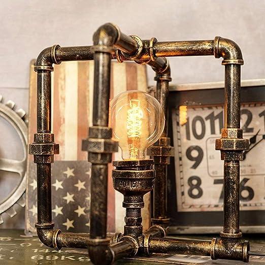 TZZ Agua Industrial Pipe lámpara de Escritorio Vintage Loft Cafe ...