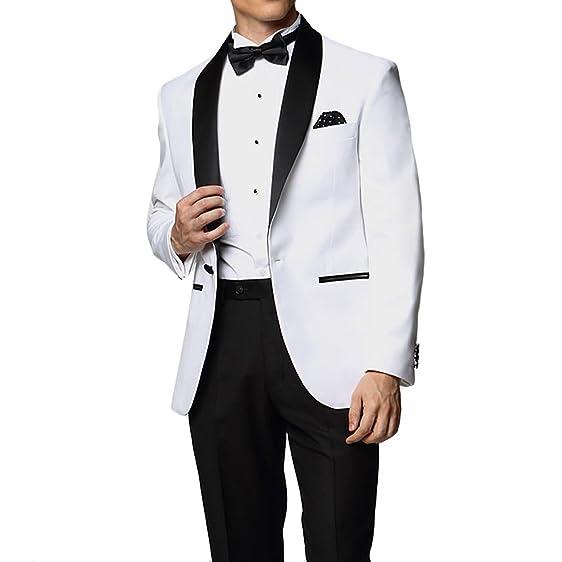 Custom Made Men's White Business Celebrity Suit Coat Suit, Pant ...