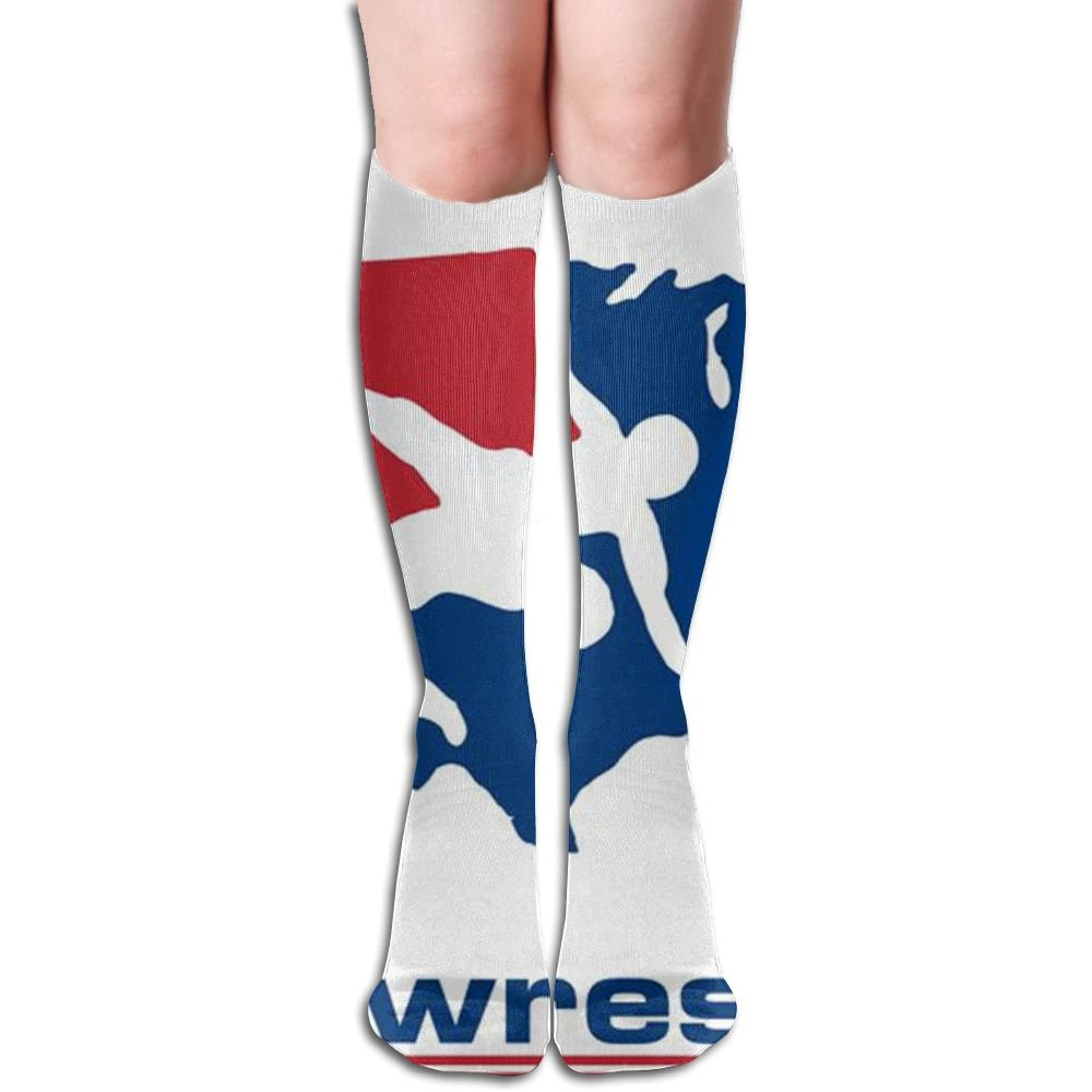Unique Special US Wrestling Sign Knee High Socks Hiking Thigh High Socks For Unisex