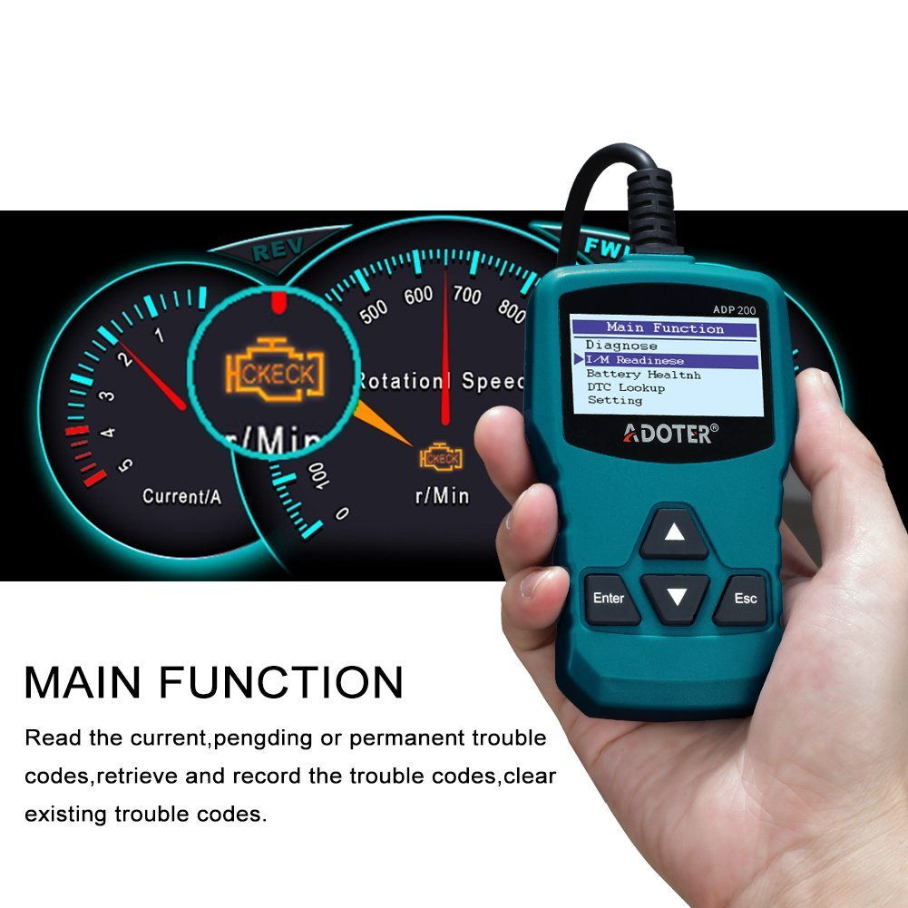 Adoter Car Auto Engine Code Scanner,Universal OBD2 Scanner ADN200 Automotive Diagnostic Scanner for Car by Adoter (Image #4)