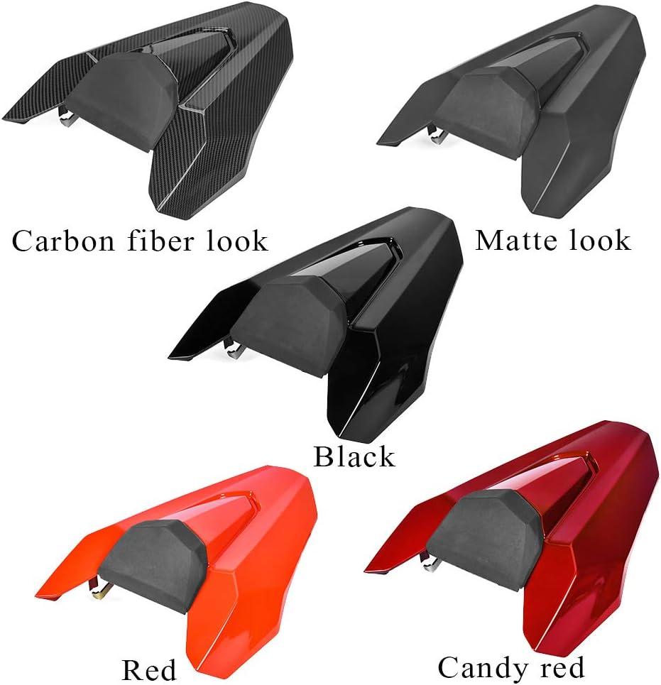 Black LoraBaber Motorcycle Pillion Rear Seat Cover Cowl Solo Seat Cowl for CB650R 2019 2020 CBR650R CB650R CB 650r CBR 650R