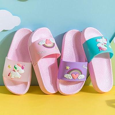 Boys Girls Unicorn Dinosaur Slide Sandals Cute Cartoon Beach Pool Slippers Kids Water Shoes for Toddler Little Kids
