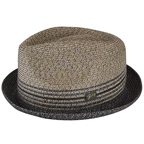 Bailey of Hollywood Men Hooper Toyo Braid Trilby Charcoal - Wide Toyo Hat Braid
