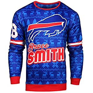 NFL Mens Retired Players Graphic Sweater, Player Options