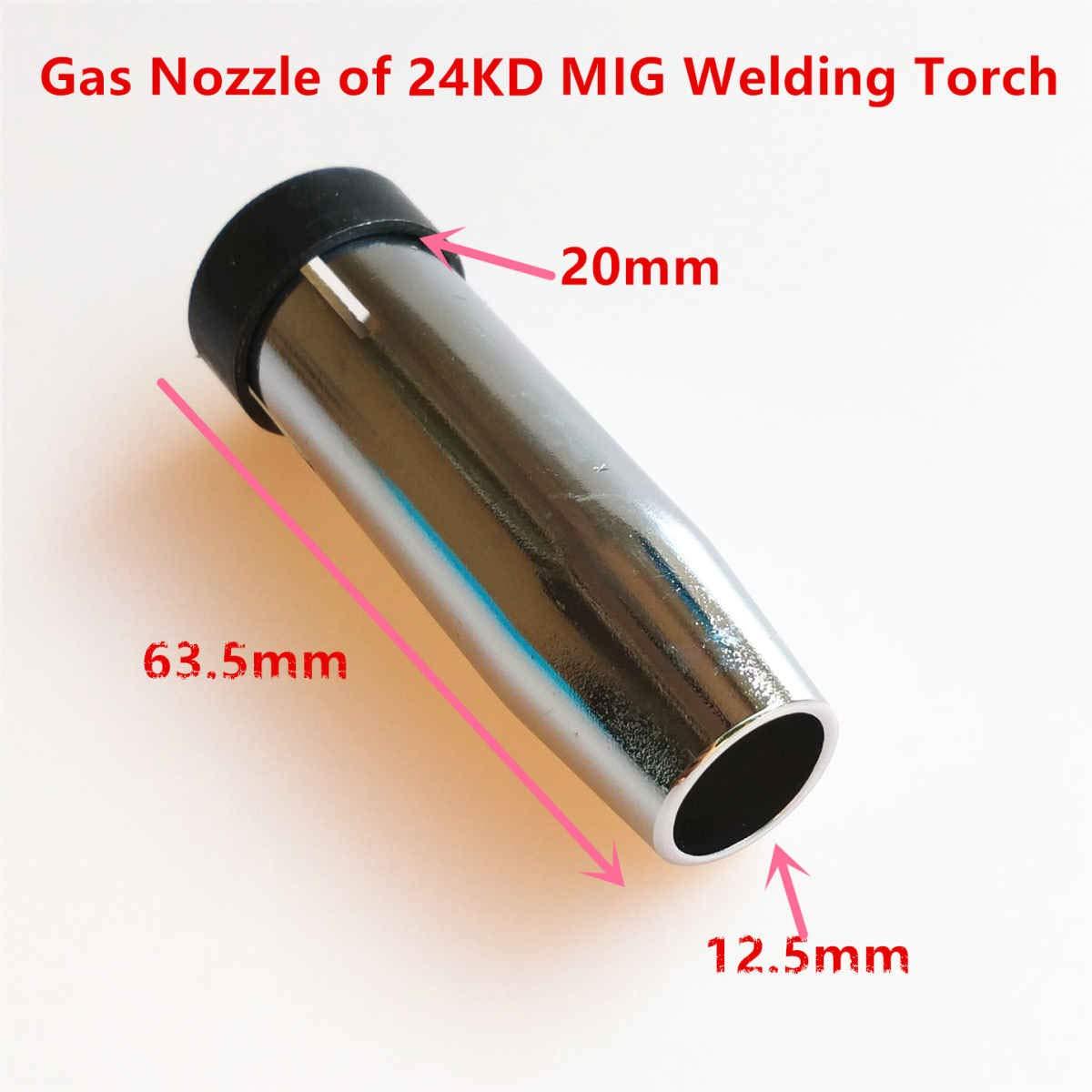 Lot de 35 lampe-torche /à souder 24 KD 0,8 mm 1,0 mm 1,2 mm MIG lampe de poche /à gaz Diffuseur de gaz pour machine /à souder MIG MAG 24KD Consumables 1.2mm 0.047in