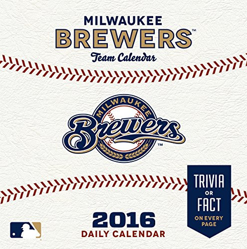 Turner Milwaukee Brewers 2016 Box Calendar, January-December (8051407)