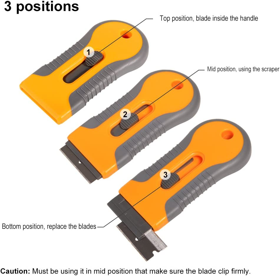 10Pcs Plastic Blades Too Car Vehicle Decal Tape Removal Eraser Remover Scraper