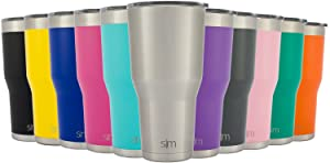 Simple Modern Tumbler Vacuum Insulated 30oz Cruiser with Lid - Double Walled Stainless Steel Travel Mug - Sweat Free Coffee Cup - Compare to Yeti and Contigo - Simple Stainless