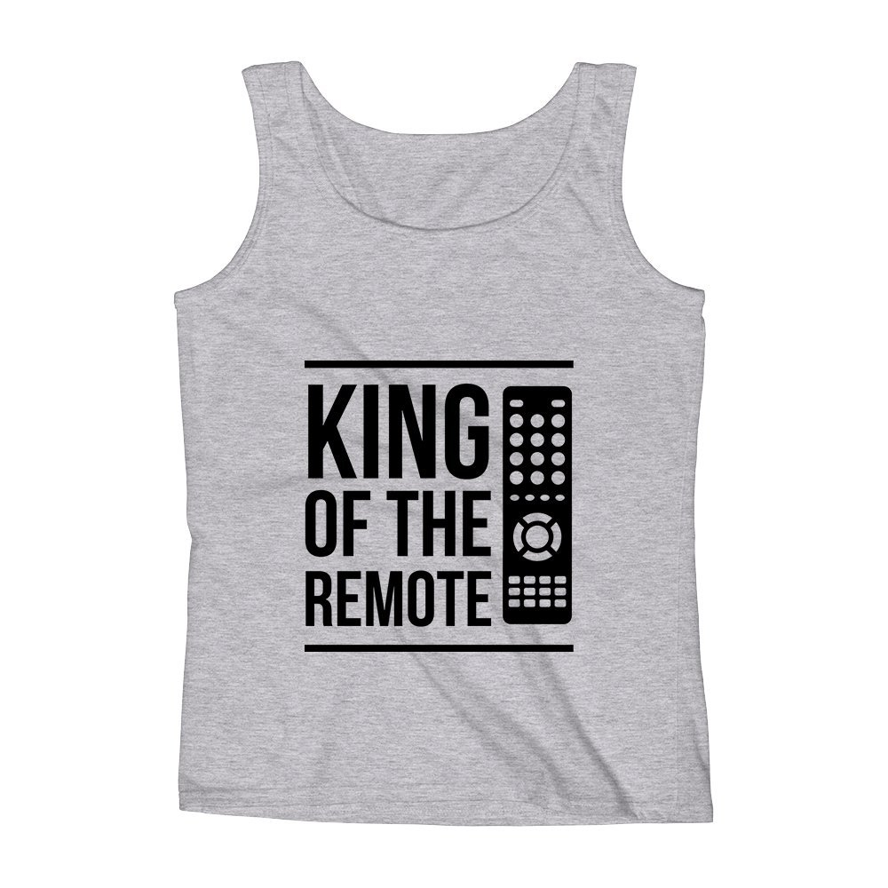 Mad Over Shirts King of The Remote Unisex Premium Tank Top