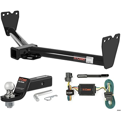 amazon com curt class 3 hitch tow package with 1 7 8\