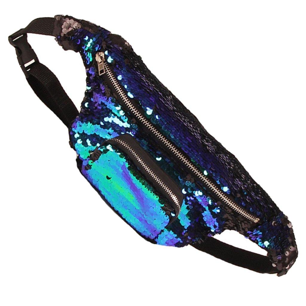 Prettyia Women's Men's Belt Bum Bag Waist Money Holder Pouch Travel Sport Money Walllet cheap