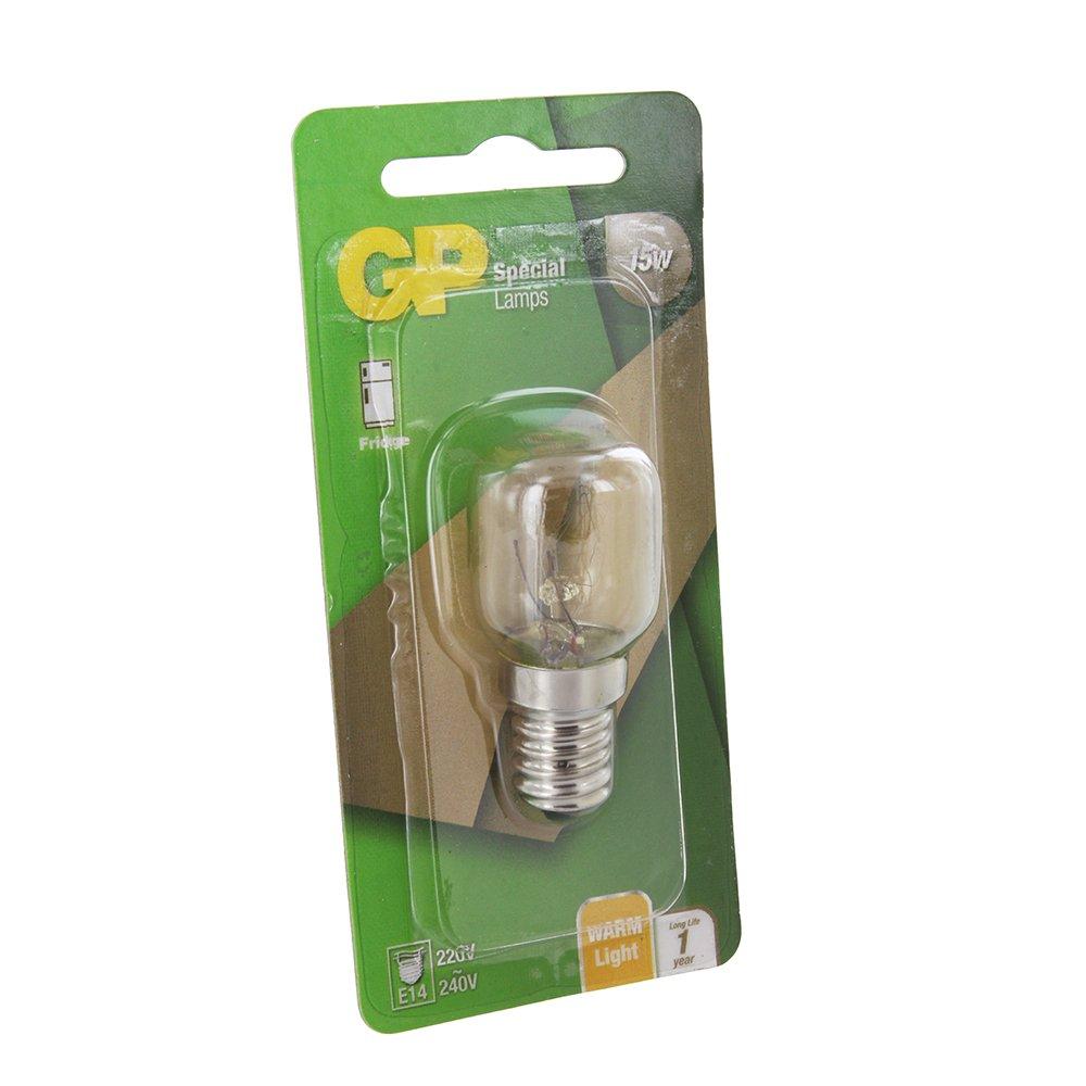 GP Bombilla de refrigerador universal 15W, T25, E14