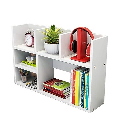 Amazon Com Bookcases Simple Desktop Bookshelf Storage Racks