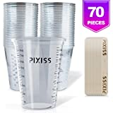 Disposable Epoxy Resin Mixing Cups Clear Plastic 10-Ounce 50-Pack For Measuring Paint Epoxy Resin Art Supplies…