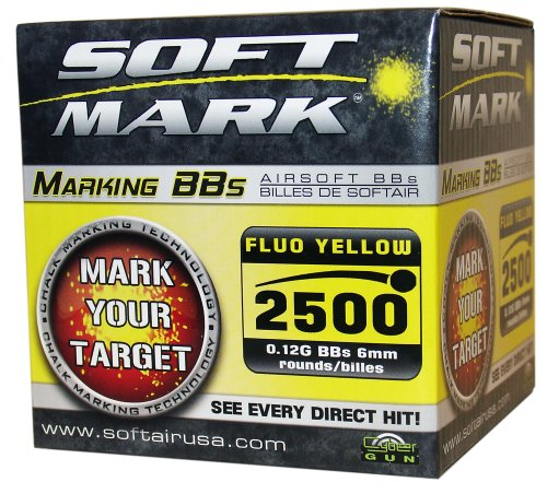 Palco Sports Soft Air Soft Mark .12g Marking BB's - 2,500 count (Yellow)