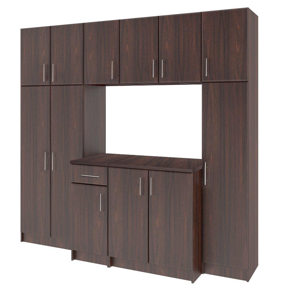 LifeSky LIF-CKC3002-2 Storage Cabinet, 16''x24'' Wall, Walnut by LifeSky (Image #3)