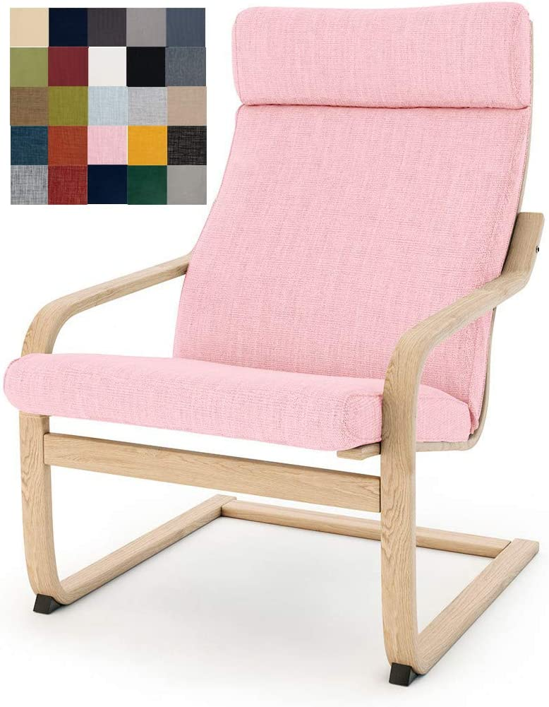 Multi Colored IKEA Poäng Armchair Replacement Cover, Cushion not Included (Cushion Design 1, Polyester - Pink)