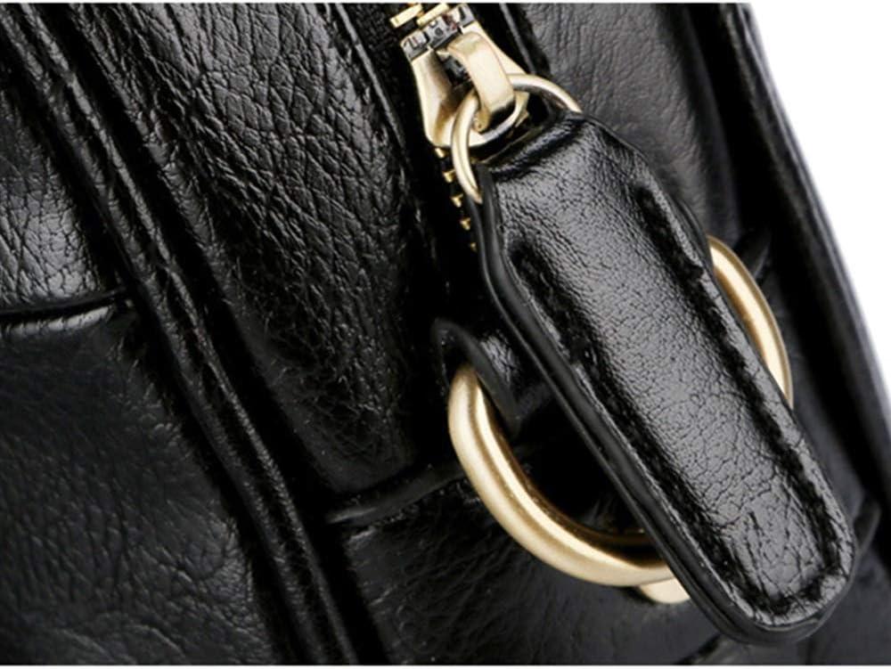 Color : Black, Size : 39730cm KCXUT Briefcase Mens Business Briefcase Shoulder Handbags Large Multifunction Briefcase Black Suitable for Outing Business Laptop Bags