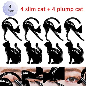 amazon com cat eyeliner stencil smoky eyeshadow applicators
