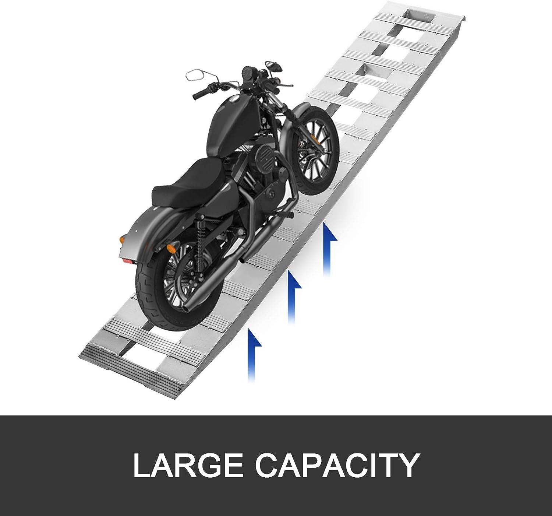 BestEquip 84x13 Inch Aluminum Ramps 6000LBS Capacity Car Trailer Truck ATV Ramps 1 Pair 2 Ramps