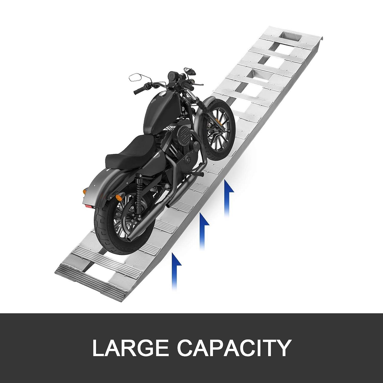 BestEquip 94x15x3.25 Inch Aluminum Ramps 5000LBS Capacity Car Trailer Truck ATV Ramps 1 Pair 2 Ramps