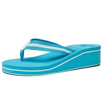 2b045ee302f5 Amazon.com  NewDenBer Women s Comfortable Wedge Flip-Flop  Shoes
