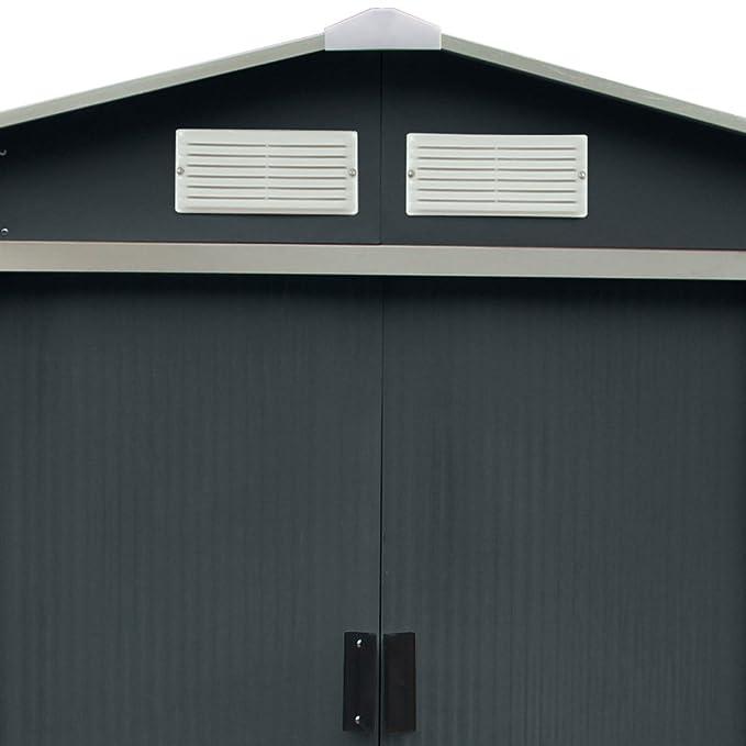 Habit Caseta en chapa galvanizada gris para almacenar utensilios de jardinería CLASSICGREY/XXL.: Amazon.es: Jardín