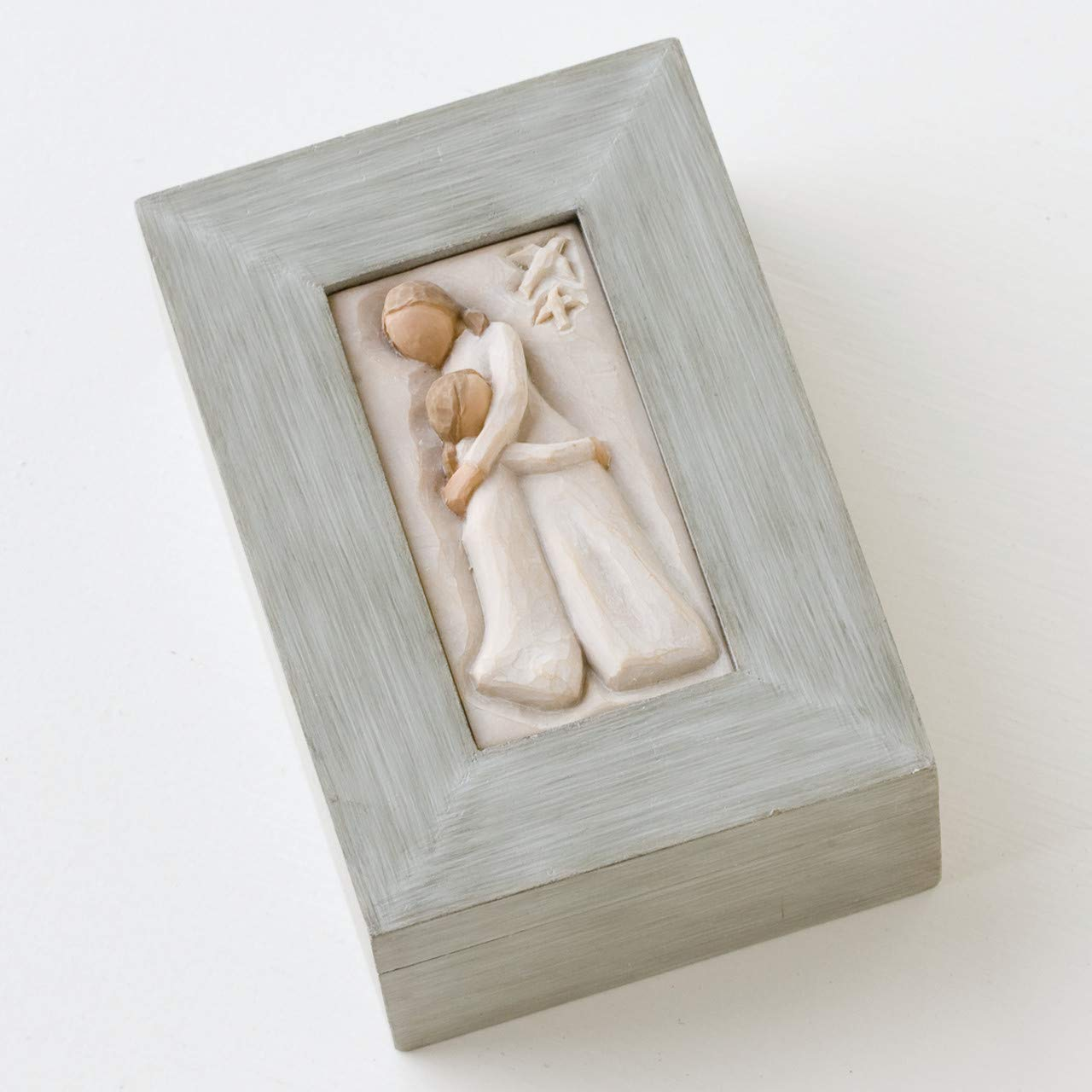 Willow Tree Mother and Daughter, sculpted hand-painted memory box by Willow Tree