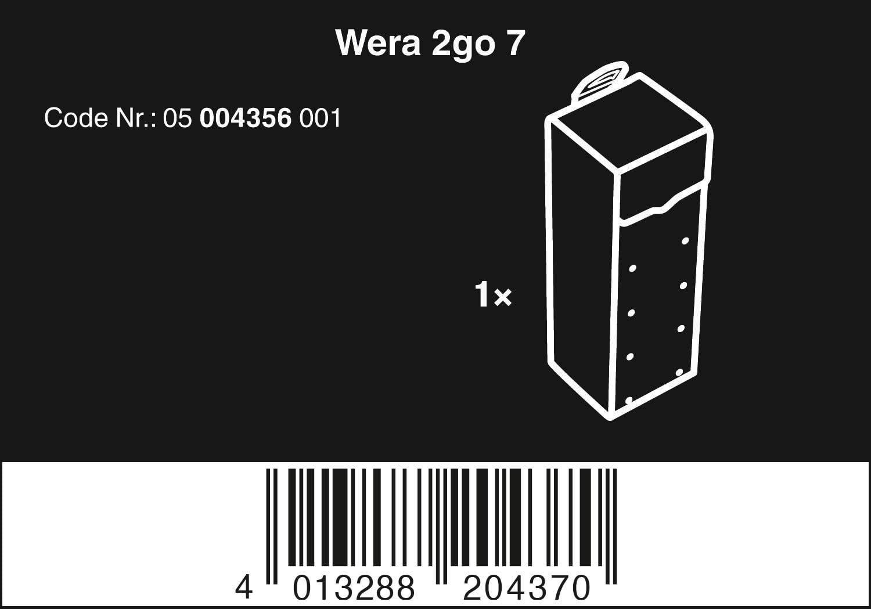 Noir 100 x 105 x 300 mm Wera 05004356001 2go 7 Bo/îte /à Outils Textile