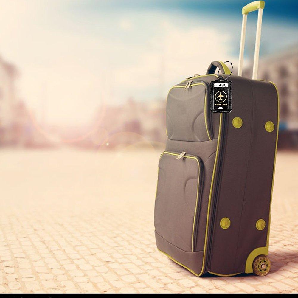 /étiquette de bagage en cuir dunit/é centrale /Étiquettes de bagage accessoire de voyage d/étiquette de sac /à main