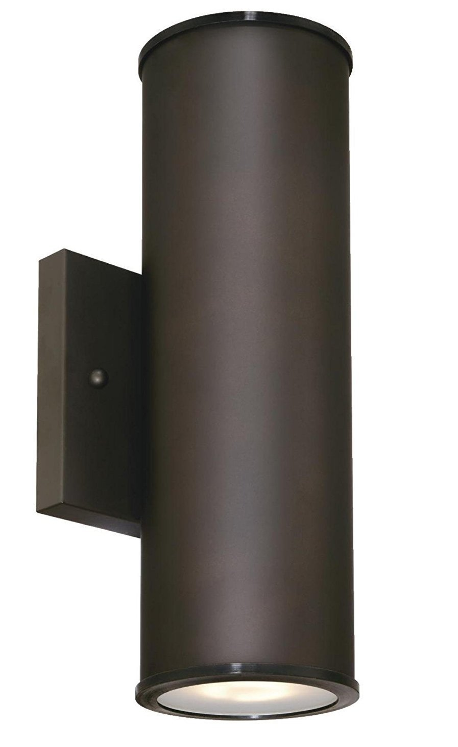 Two-Light LED Up and Down Light Outdoor Wall Fixture with Frosted Glass Lens, Oil Rubbed Bronze