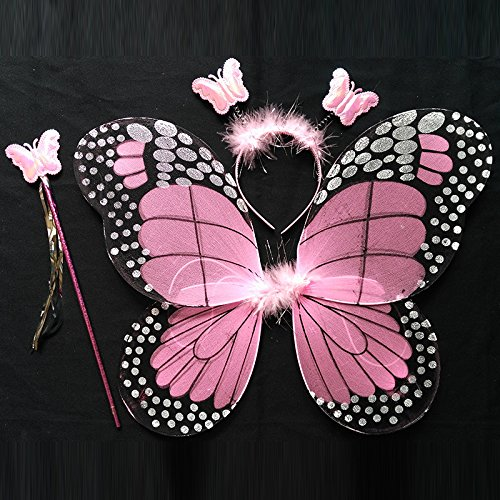 Damjic Halloween Children Butterfly Wings Princess Costume Girls. B - Realistic Joker Costumes
