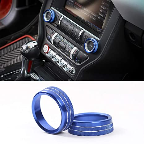 TopDall Carbon Fiber Shelby GT Custom Cup Holder Mat Coaster 3D Sticker Cover Trim For Ford Mustang 2016-2019