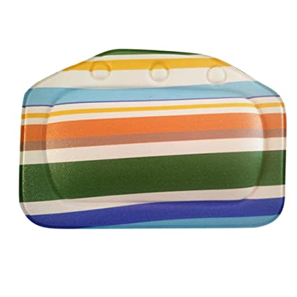 Divine Overseas Home Bathroom Use Neck Spa Support Relax Shower Multicolor Stripe Charms Foam Sponge Soft Bathtub Pillow Bath Headrest #2