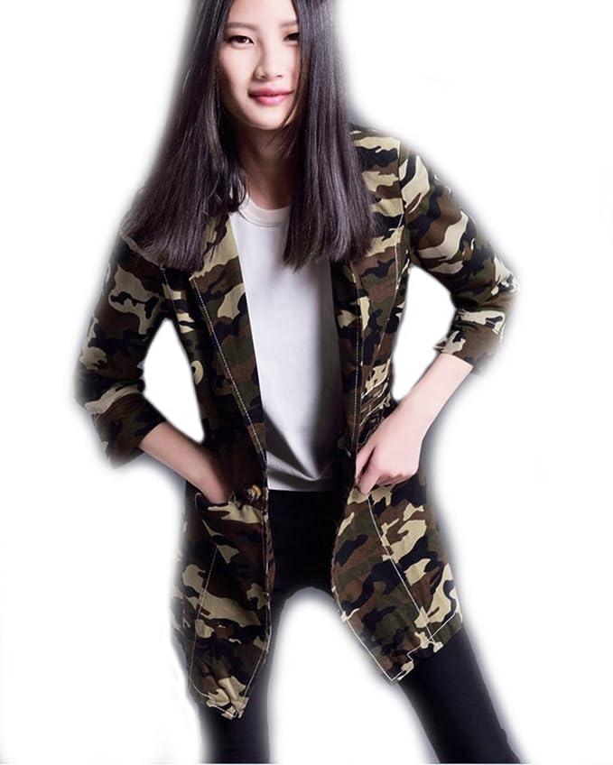 Herina, Women Long Sleeve Army Camo Camouflage Jacket Suit at Amazon Womens Coats Shop