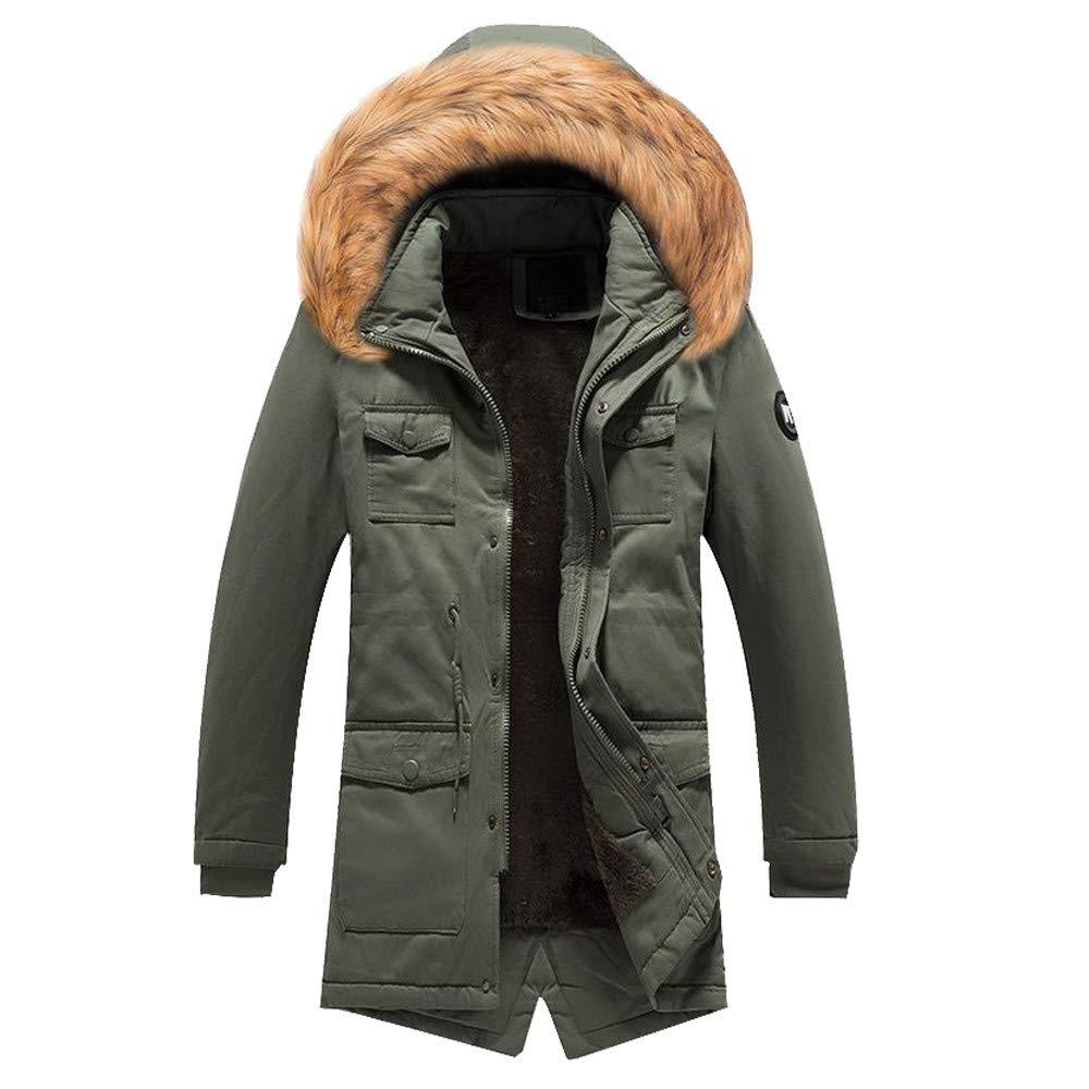 Vert militaire Homme Manteaux d'hiver Fluffy à Capuche Taille Plus Grande Vente Jiayit Camo Chaud surdimensionné Manteau XXX-Large